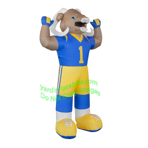 7' Air Blown Inflatable NFL Los Angeles Rams Rampage Mascot