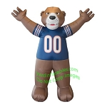 7' Air Blown Inflatable NFL Chicago Bears Staley Da Bear Mascot