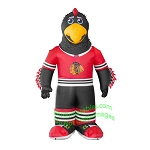 7' Air Blown Inflatable NHL Chicago Blackhawks Tommy Hawk Mascot
