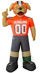 7' NFL Inflatable Cleveland Browns CHOMPS Mascot