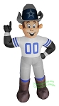 7' Air Blown NFL Dallas Cowboys Rowdy Mascot