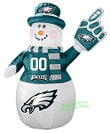 7' Air Blown NFL Philadelphia Eagles Inflatable Snowman