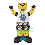 7' Air Blown Inflatable NFL Jacksonville Jaguars Jaxson de Ville Mascot