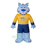 7' Air Blown Inflatable NHL Nashville Predators Gnash Mascot