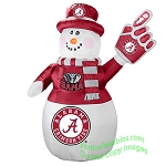 7' Air Blown Inflatable NCAA Alabama Crimson Tide Snowman