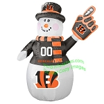 7' Air Blown Inflatable NFL Cincinnati BENGALS Snowman