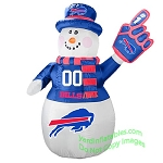 7' Air Blown Inflatable NFL Buffalo Bills Snowman