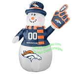 7' Air Blown Inflatable NFL Denver BRONCOS Snowman