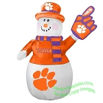 7' Air Blown Inflatable NCAA Clemson Tigers Snowman