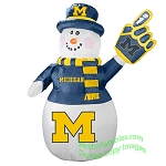 7' Air Blown Inflatable NCAA Michigan Wolverines Snowman