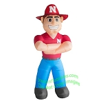 7' NCAA Inflatable Nebraska Cornhuskers Herbie Mascot