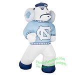 7' NCAA Inflatable North Carolina Tarheels Rameses Mascot