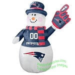 7' Air Blown Inflatable NFL New England Patriots Snowman
