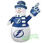 7' Air Blown Inflatable NHL Tampa Bay Lightning Snowman