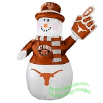 7' Air Blown Inflatable NCAA Texas Longhorns Snowman
