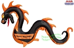 11' Air Blown Inflatable BLACK Serpent Snake Dragon