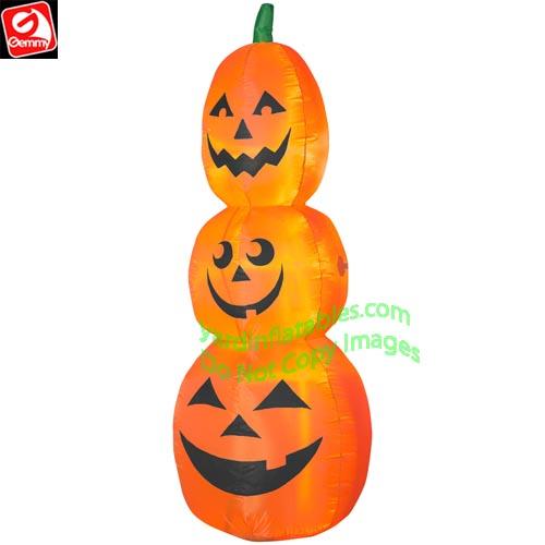 Halloween 2020 Inflating Pumpkin 7' Gemmy Airblown Inflatable Halloween Pumpkin Stack