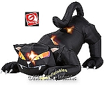 6' Gemmy Airblown Inflatable Animated Halloween Black Cat Turning Head
