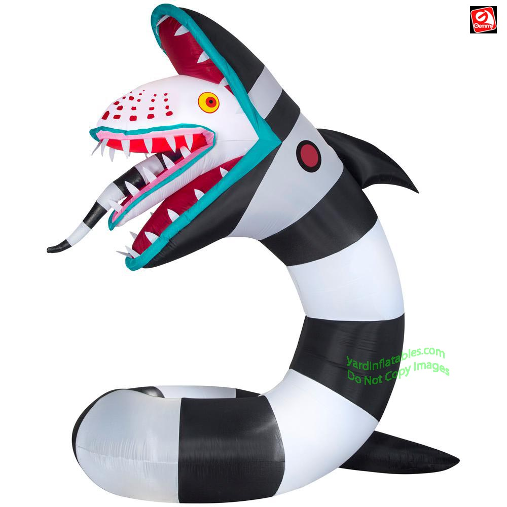 9.5' Gemmy Airblown Inflatable Animated Airblown GIANT Beetlejuice Sand Worm