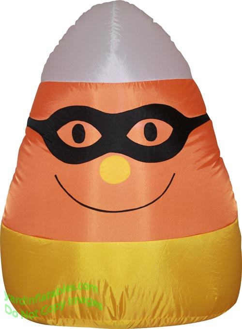 4' Halloween Candy Corn With Mask