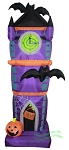 7 1/2' Air Blown Inflatable Halloween Clock Tower