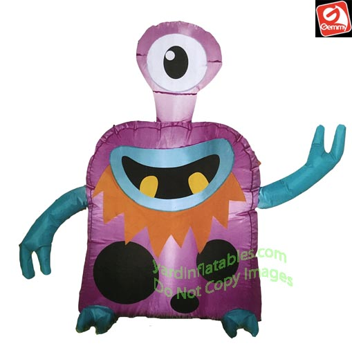 3 1/2' Airblown Inflatable Cyclops Alien