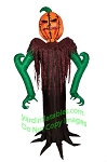 6' Air Blown Inflatable Dark Pumpkin Reaper Inflatable