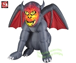 5 1/2' Gemmy Airblown Inflatable Fire & Ice Gray Gruesome Gargoyle