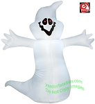 4' Gemmy Airblown Inflatable Ghost With Red Eyes