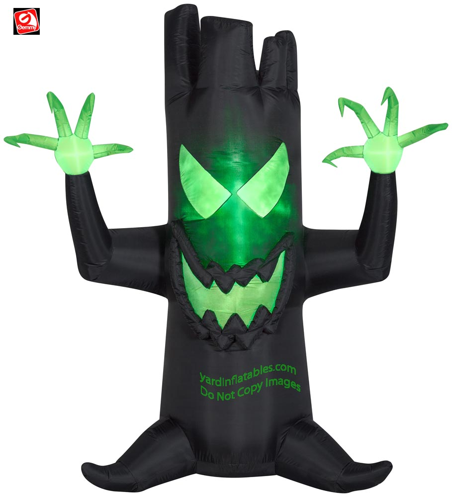 7' Gemmy Airblown Inflatable Fire & Ice Haunted Dead Tree