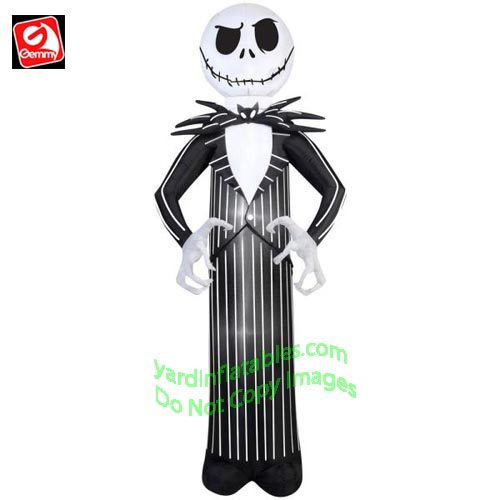 7' Gemmy Airblown Inflatable Jack Skellington From Nightmare Before Christmas