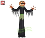 12' Gemmy Airblown INflatable Projection KALEIDOSCOPE Pumpkin Reaper