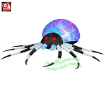 8' KALEIDOSCOPE Black and White Spider