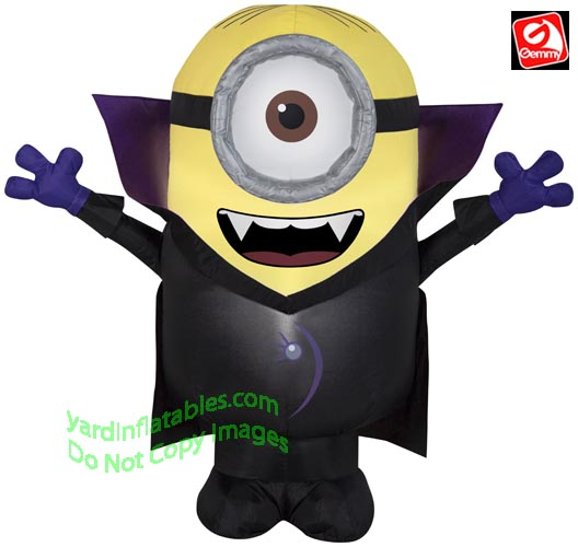 3' Gemmy Airblown Inflatable Gone Batty Minion