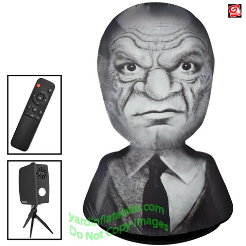 7' Gemmy Airblown Inflatable Living Projection Old Man Head