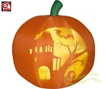 5' Gemmy Airblown Inflatable Panoramic Projection Pumpkin Jack-O-Lantern