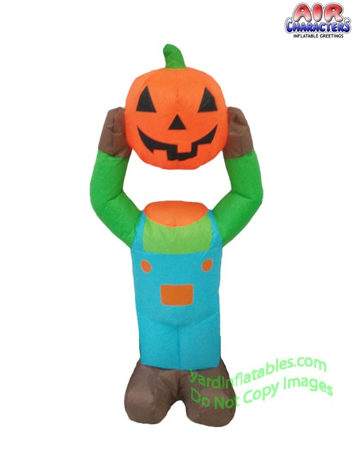 3 1/2' Air Blown Inflatable Pumpkin Head Boy
