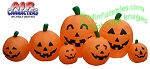 12 1/2' Air Blown Inflatable 7 Pumpkin Jack-O-Lantern Patch