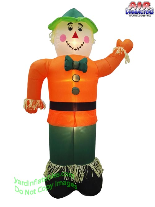 7' Air Blown Inflatable Thanksgiving Scarecrow