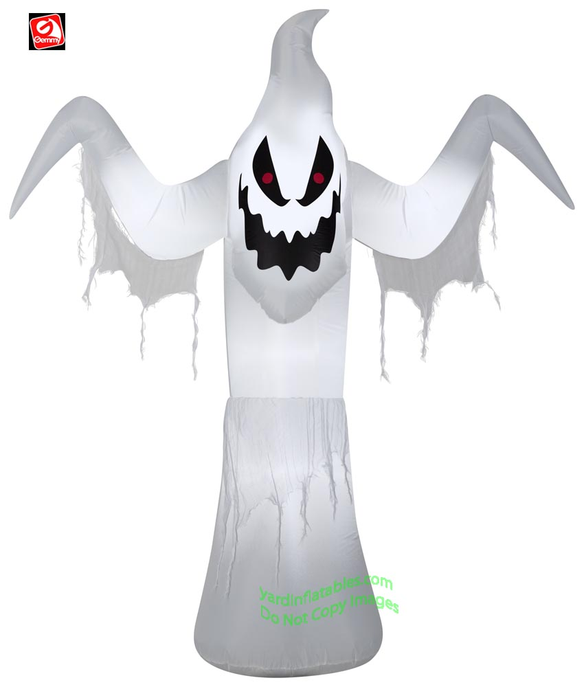 6' Gemmy Airblown Inflatable Animated Shaking Halloween Ghost