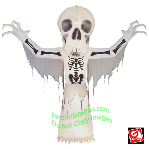 10' Gemmy Airblown Inflatable Short Circuit Skeleton Bare-Bones