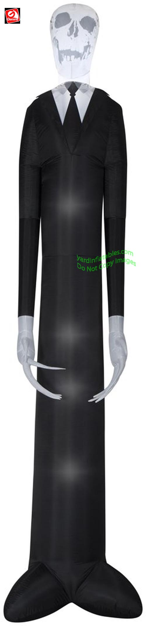 12' Gemmy Airblown Inflatable Short Circuit Giant Slender Slim Man