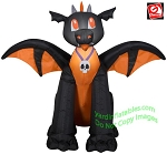 3 1/2' Airblown Inflatable Baby Black & Orange Dragon