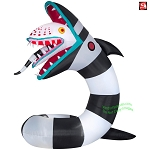 10' Gemmy Airblown Inflatable Animated Airblown GIANT Beetlejuice Sand Worm