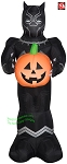 3 1/2' Airblown Inflatable Marvel's Black Panther w/ Pumpkin