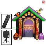 9' Airblown Inflatable LIVING PROJECTION Halloween Archway w/ Removable Screen