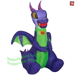 3 1/2' Gemmy Airblown Inflatable Baby Purple & Green Dragon