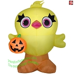 4 1/2' Gemmy Airblown Inflatable Toy Story 4 Ducky Holding Pumpkin