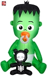 5 1/2' Gemmy Airblown Inflatable Baby Frankenstein Monster w/ Pacifier