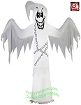 7' Gemmy Airblown Inflatable Chained Spooky Ghost